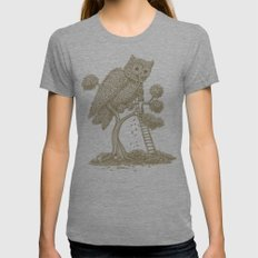 The Night Gardener (Colour Option) Womens Fitted Tee Tri-Grey SMALL