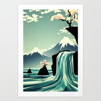Waterfall blossom dream Art Print