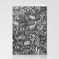 Typography Pattern Stationery Cards