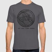 Eat • Bike • Sleep �… Mens Fitted Tee Asphalt SMALL