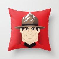 Mountie Throw Pillow