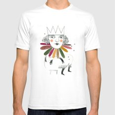 queen margherita White SMALL Mens Fitted Tee