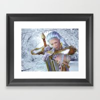 Frozen in thought Framed Art Print
