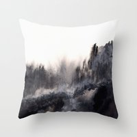 Watercolor abstract landscape 17 Throw Pillow