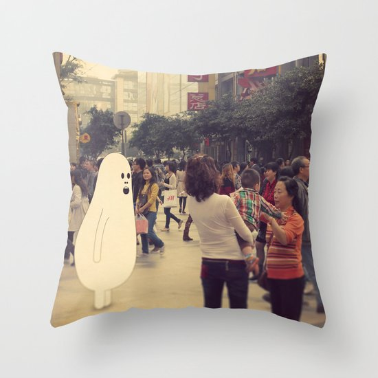 l o s t i n c h e n g d u Throw Pillow