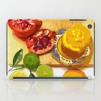 Still Life with Pomegranate iPad Case
