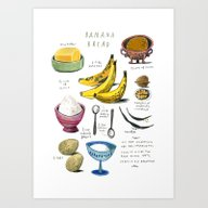Illustrated Recipes: Ban… Art Print