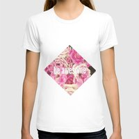 Be Awesome Womens Fitted Tee White SMALL