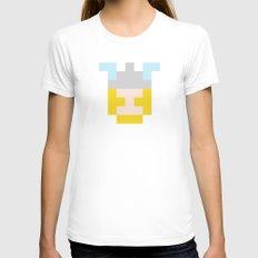 hero pixel flesh yellow grey Womens Fitted Tee White SMALL