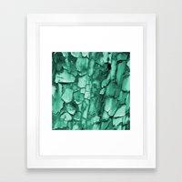 Flakey - Teal Framed Art Print