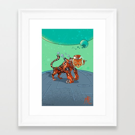 Astro Zodiac Force 03: Tiger Framed Art Print