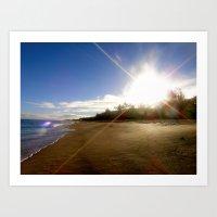 Sun, Sand, Surf Art Print