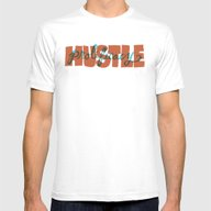 Hustle & Prolificacy Mens Fitted Tee White SMALL
