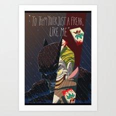 BATMAN&JOKER Art Print