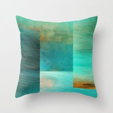 Fantasy Oceans Collage Throw Pillow