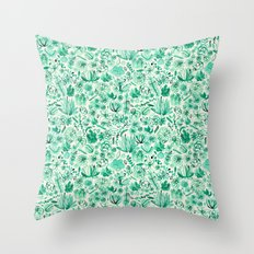 The Wonderful World of Succulents Throw Pillow