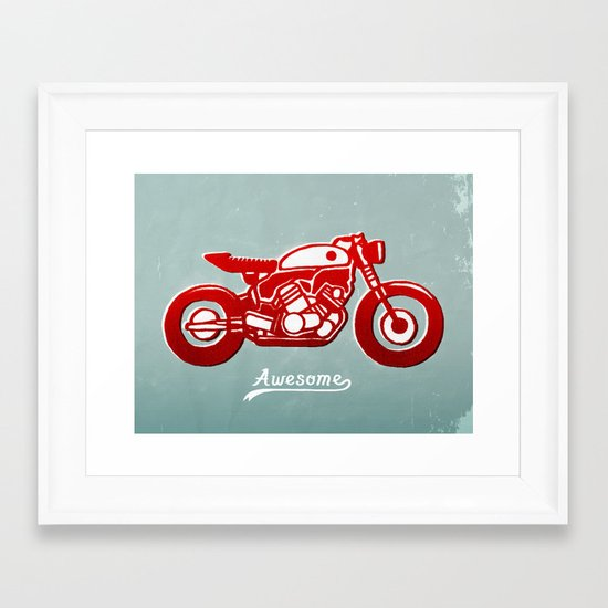 Vintage Bike Framed Art Print