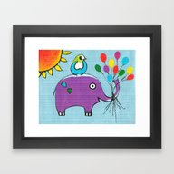 Framed Art Print featuring Up Up And Away by Kathleen Sartoris