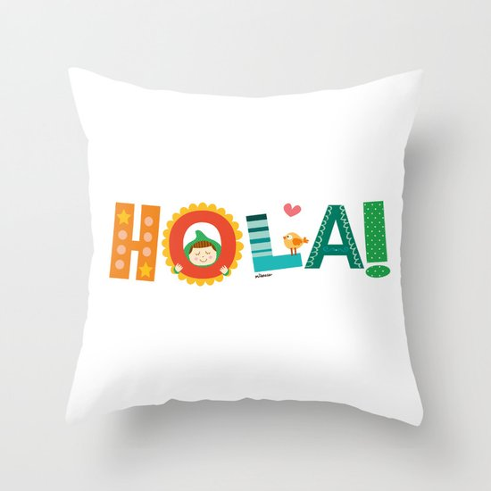 Hola Throw Pillow