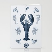 vintage sea life Stationery Cards