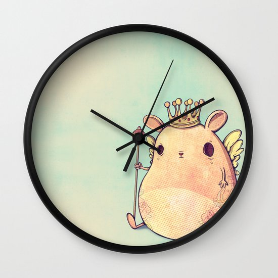 Prince Angel of Bunnyland Wall Clock