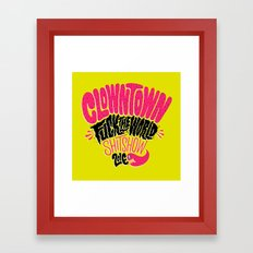 Clowntown Fuck the World Shitshow 2016 Framed Art Print