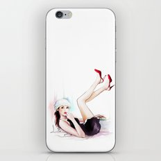 girl in red shoes iPhone & iPod Skin