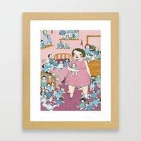 Doll Hoarder Framed Art Print
