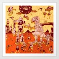War Of The Worlds (man-c… Art Print