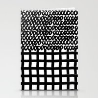 Circles and Grids Stationery Cards