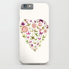 GARDEN HEART - PURPLE iPhone 6 Slim Case