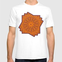Orange and blue mandala Mens Fitted Tee White SMALL
