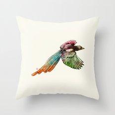 Colorful Bird Throw Pillow