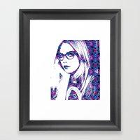 Cara in the city Framed Art Print