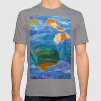 Abstract beautiful rock pools in the late afternoon Mens Fitted Tee Tri-Grey SMALL