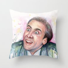 Nicolas Cage You Don't Say Throw Pillow