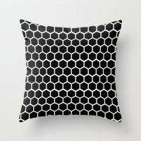 Graphic_Cells Black&White Throw Pillow