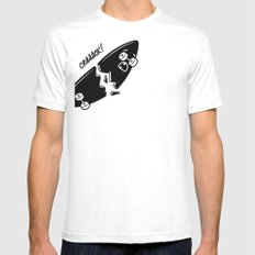 CRAAACK! White Mens Fitted Tee SMALL