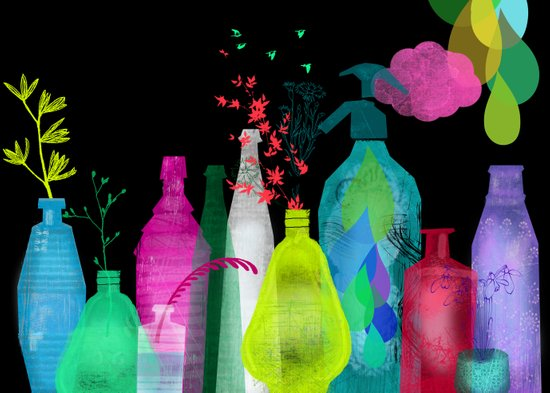 enchanted bottles Art Print