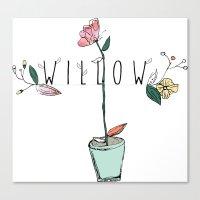 floral kids custom! Canvas Print