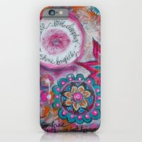 iPhone & iPod Case featuring Be Brave. Love Deeply. Shine Brightly. by Kristen Fagan