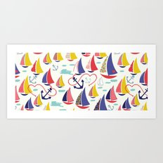 Nautical and Nice! Art Print