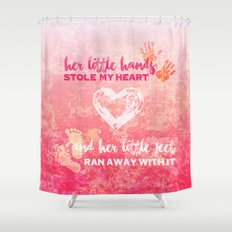 Her Baby Hands & Feet Shower Curtain
