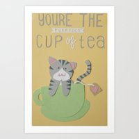 You're The Purrfect Cup … Art Print