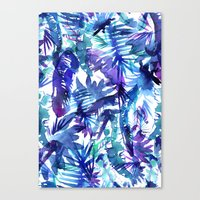 Vibe of the JUNGLE  {B-Blue} Canvas Print