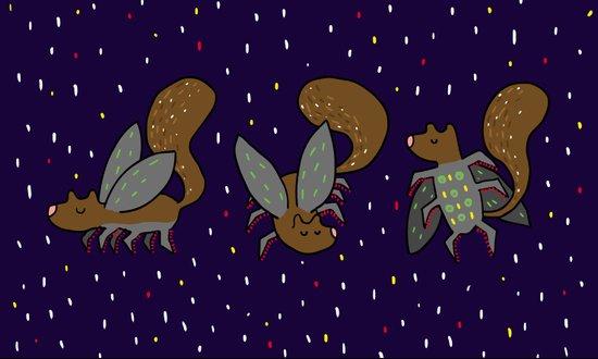 Evil mutant squirrel Art Print