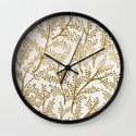 Gold Branches Wall Clock