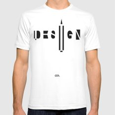 Design. White SMALL Mens Fitted Tee