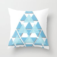 Blue Sky Mountain Throw Pillow