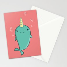 Friendly Narwhal Stationery Cards